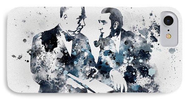 Basil Rathbone And Nigel Bruce IPhone Case by Rebecca Jenkins
