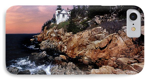 Bass Harbor Head Lighthouse In Maine Phone Case by Skip Willits