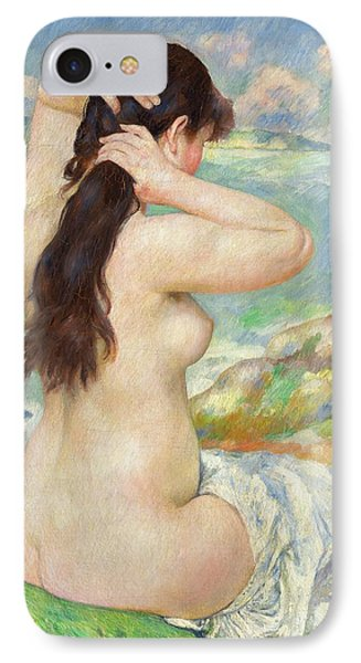 Bather Arranging Her Hair IPhone Case by Pierre Auguste Renoir