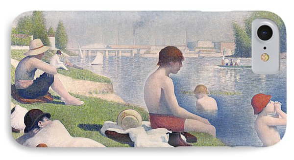 Bathers At Asnieres Phone Case by Georges Pierre Seurat