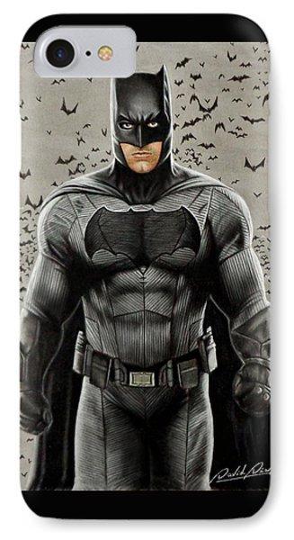 Batman Ben Affleck IPhone Case by David Dias