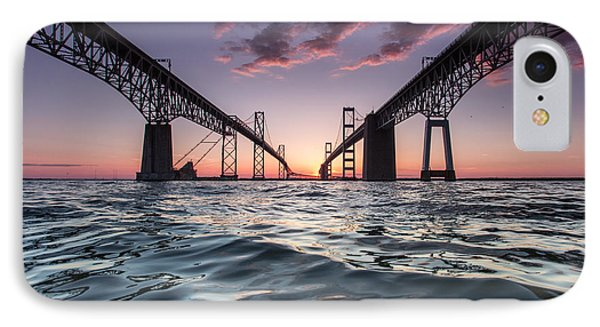 Bay Bridge Twilight IPhone Case by Jennifer Casey