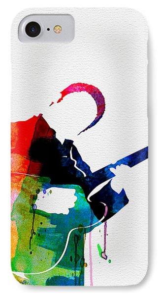 B.b. King Watercolor IPhone Case by Naxart Studio
