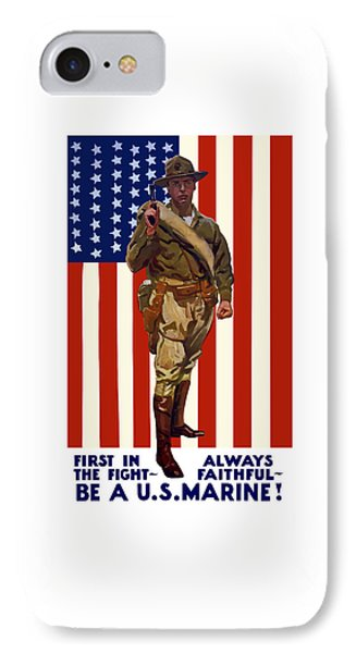 Be A Us Marine IPhone Case by War Is Hell Store