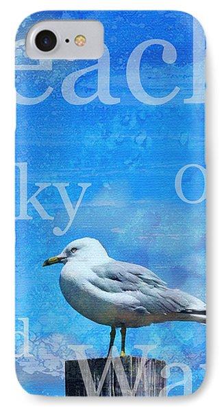 Beach Art Seagull By Sharon Cummings IPhone Case by Sharon Cummings