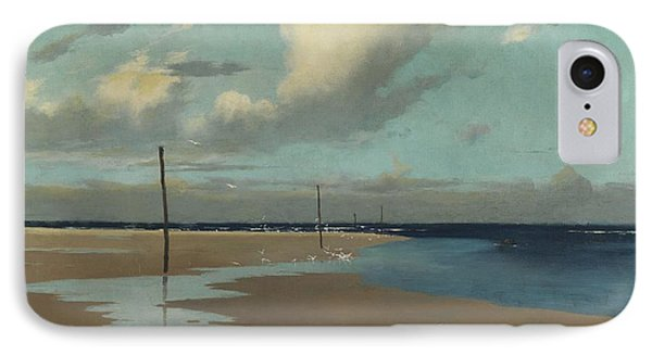 Beach At Low Tide IPhone Case by Frederick Milner