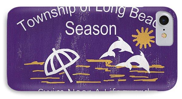 Beach Badge Long Beach IPhone Case by Debbie DeWitt