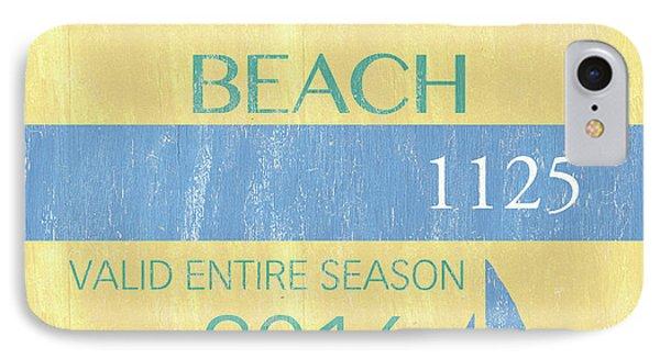 Beach Badge Normandy Beach 2 IPhone Case by Debbie DeWitt