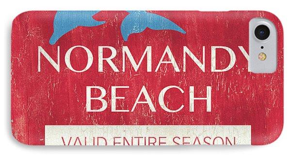 Beach Badge Normandy Beach IPhone Case by Debbie DeWitt