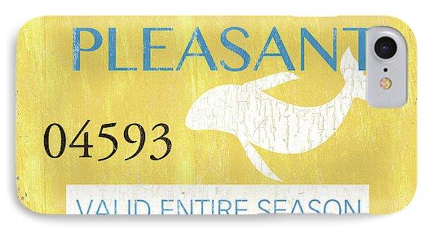 Beach Badge Point Pleasant IPhone Case by Debbie DeWitt