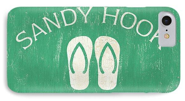 Beach Badge Sandy Hook IPhone Case by Debbie DeWitt