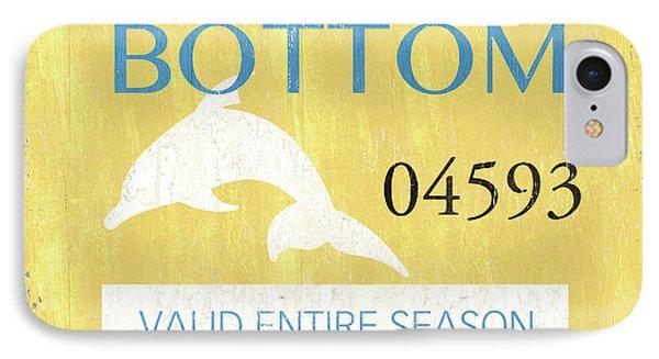 Beach Badge Ship Bottom IPhone Case by Debbie DeWitt