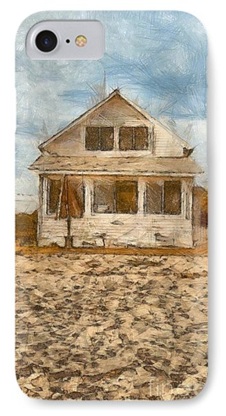 Beach Cottage Pencil IPhone Case by Edward Fielding