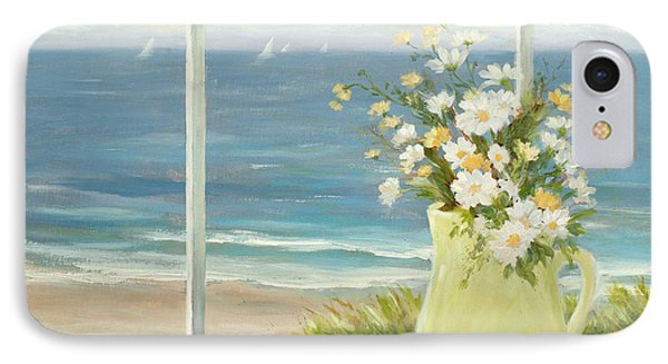 Beach Daisies In Yellow Vase IPhone Case by Tina Obrien