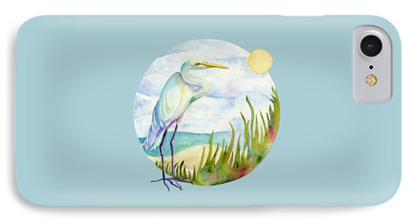 Beach Heron IPhone 7 Case by Amy Kirkpatrick