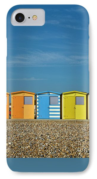 Beach Huts At Seaford IPhone Case by Heiko Koehrer-Wagner