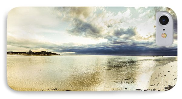 Beach Panorama Of A Sunrise Over The Sea IPhone Case by Jorgo Photography - Wall Art Gallery