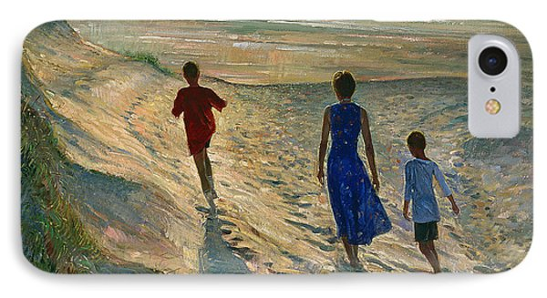 Beach Walk Phone Case by Timothy Easton