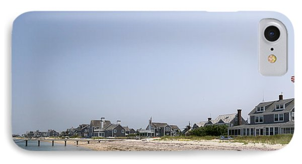Beach With Buildings In The Background IPhone Case by Panoramic Images