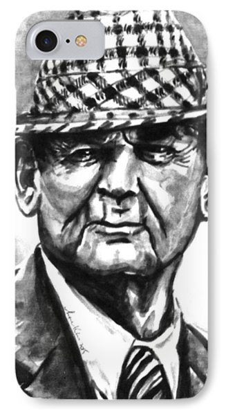 Bear Bryant Bw Watercolor  IPhone Case by Hae Kim
