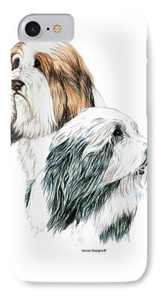 Bearded Collies Phone Case by Kathleen Sepulveda