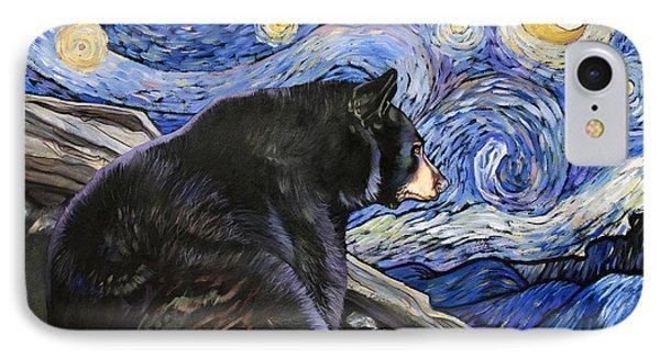 Beary Starry Nights IPhone Case by J W Baker