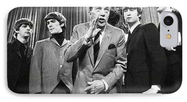 Beatles And Ed Sullivan Phone Case by Granger