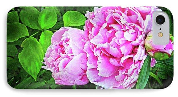Beautiful Garden Peony Phone Case by Patricia L Davidson
