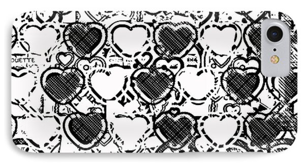 Beautiful Hearts Bw IPhone Case by Toppart Sweden