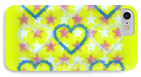 Beautiful Hearts, Mixed With Modern Art IPhone Case by Toppart Sweden