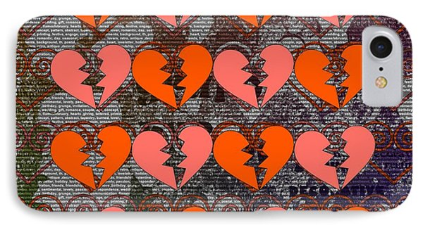 Beautiful Hearts, Mixed With Modern Style IPhone Case by Toppart Sweden