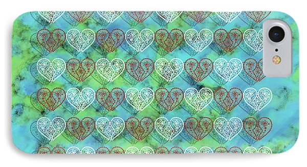 Beautiful Hearts IPhone Case by Toppart Sweden