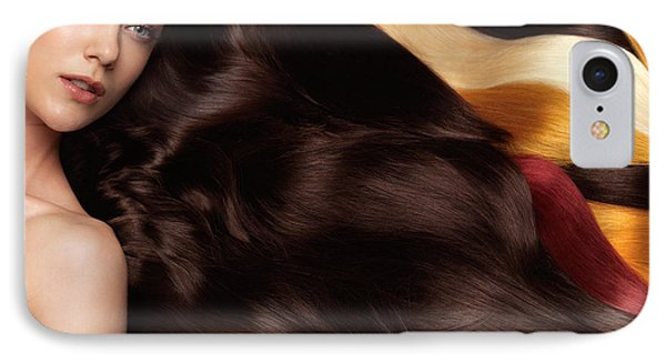Beautiful Woman With Hair Extensions Phone Case by Oleksiy Maksymenko