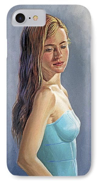 Becca-different Hairdo IPhone Case by Paul Krapf