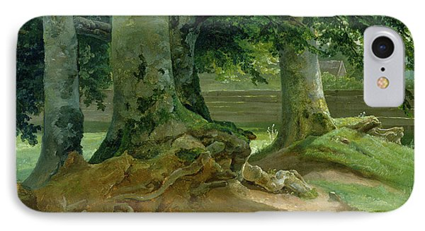 Beech Trees In Frederiksdal Near Copenhagen IPhone Case by Christian Ernst Bernhard Morgenstern
