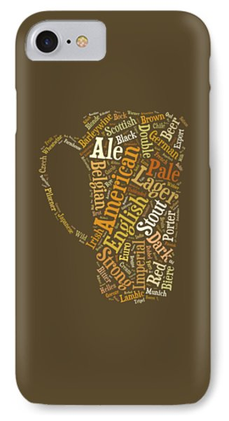 Beer Lovers Tee IPhone Case by Edward Fielding