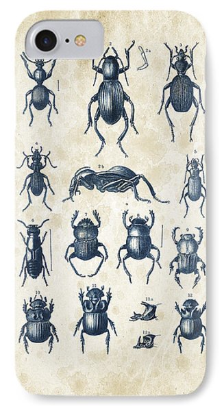 Beetles - 1897 - 01 IPhone Case by Aged Pixel
