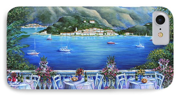 Bellagio From The Cafe IPhone Case by Marilyn Dunlap