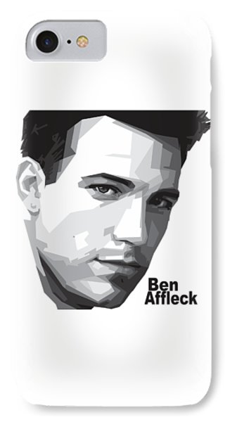 Ben Affleck Portrait Art IPhone 7 Case by Madiaz Roby