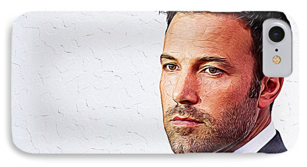 Ben Affleck IPhone 7 Case by Iguanna Espinosa