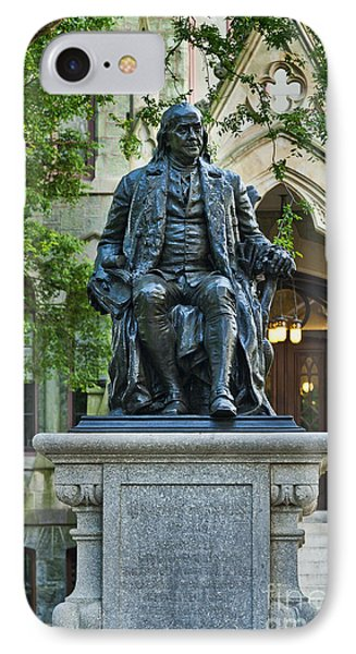 Ben Franklin At The University Of Pennsylvania IPhone Case by John Greim