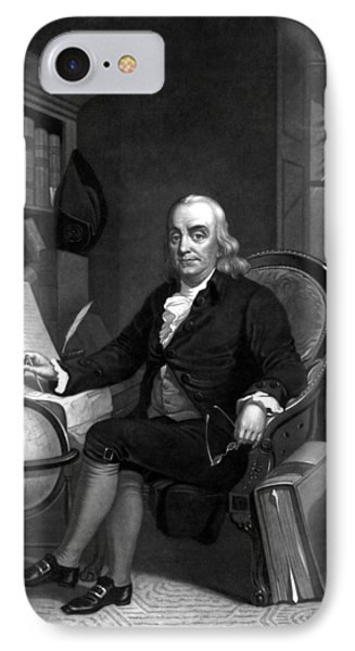 Benjamin Franklin -- The Scientist IPhone Case by War Is Hell Store