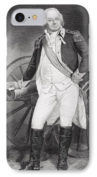 Benjamin Lincoln 1733 -1810. Army IPhone Case by Vintage Design Pics