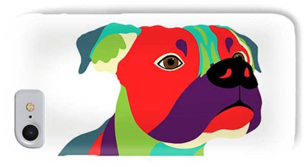Bennie The Boxer Dog - Wpap IPhone Case by SharaLee Art