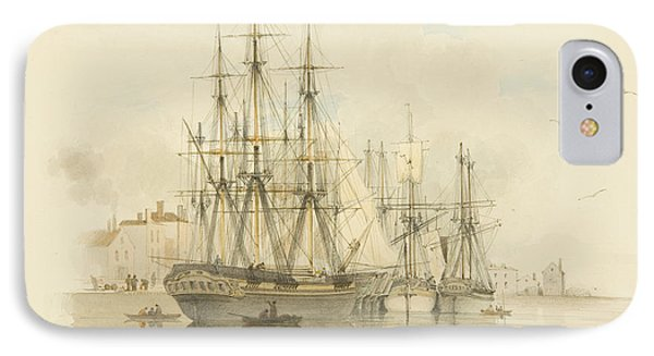 Berth Between The Two Mud Docks In The Grove IPhone Case by Thomas Leeson the Elder Rowbotham