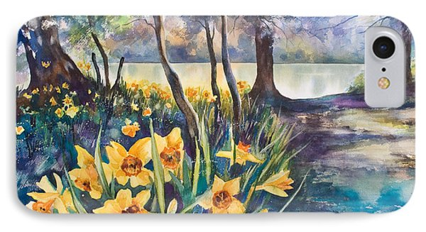Beside The Lake Beneath The Trees. Phone Case by Kate Bedell