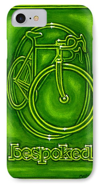 Bespoked In Lime  IPhone Case by Mark Howard Jones