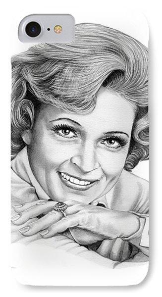 Betty White IPhone Case by Murphy Elliott