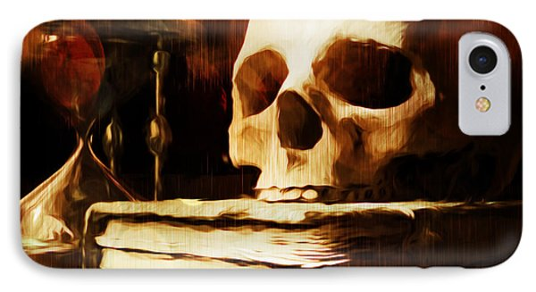 Between Life And Death Is A Dash IPhone Case by Georgiana Romanovna