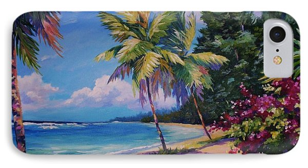 Between The Palms 20x16 IPhone Case by John Clark